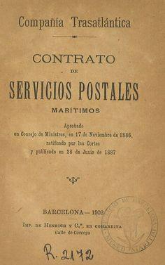 Compañía Trasatlántica : Contrato de Servicios postales marítimos