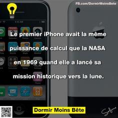 Le premier iPhone avait la même puissance de calcul que la NASA en 1969 quand elle a lancé sa mission historique vers la lune.