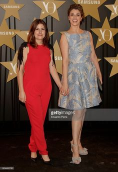 Designer Esther Noriega (L) and actress Ruth Gabriel attend the 'Yo Dona'…