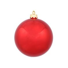 "Shatterproof Red Ball Ornaments 2.75"" Shiny Set of 12"