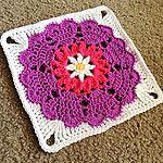 Square Heart Mandala Free Crochet Granny Square Pattern
