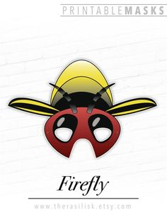 FireFly Printable Insect Mask, Lightning Bug Costume for Kids, Birthday Party, Halloween Photo Booth Prop, Spring Summer Easter Playtime Fun – original costume Halloween Photo Booth Props, Great Halloween Costumes, Halloween Photos, Halloween Party, Printable Halloween Masks, Printable Masks, Firefly Costume, Bug Costume, Christmas Tree Cards