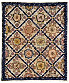 Star of Bethlehem and Le Moyne star quilt, Jones or Terry family, Virginia, 1850–60, gift of Thomas R. Terry honoring Lulie G. J. Terry