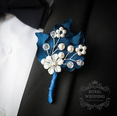 Wedding Boutonniere Buttonhole Navy Blue Wedding Boutineer Groom Groomsmen Weddings Boutonniere Father Of The Bride Brooch Boutonniere by RoyalWeddingDecore on Etsy White Boutonniere, Groomsmen Boutonniere, Corsage And Boutonniere, Groom And Groomsmen, Wedding Boutonniere, Boutonnieres, Wedding Bouquets, Groom Suits, Groom Attire