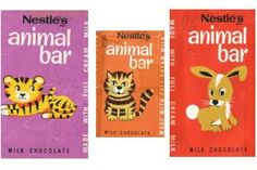 Animal Bars - the later wrappers got too busy, but these early designs were awesome.