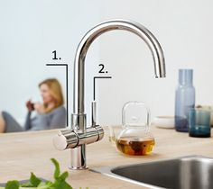 Grohe Red Duo, normal tap in combination with boiling water. No need for a kettle.