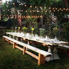 The 20 Foot Dinner Party Table. Chris OSSENFORT designs.  Love the rustic look!