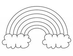 Free Printable Rainbow Templates – Large, Medium & Small Patterns - Spring Crafts For Kids Rainbow Theme, Rainbow Art, Rainbow Colors, Rainbow Words, Kids Rainbow, Rainbow Pastel, Colouring Pages, Coloring Pages For Kids, Coloring Sheets