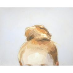 "8x10"" hair art - bun print - ""Top Knot 44"""