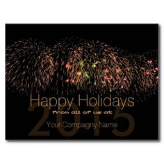 2015 Happy Holidays Customizable Corporate Cards Post Card