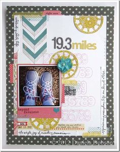Daniela Dobson + the Simple Joy by Ali Edwards May Studio AE stamp set from TechniqueTuesday.com = a great way to capture a milestone on a scrapbook page.