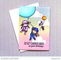 mama elephant carried away card ideas - Google Search