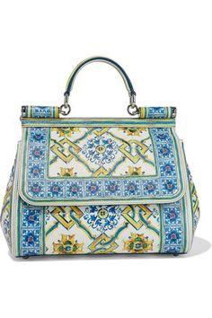 fc5ea1e36f Dolce   Gabbana - Sicily printed textured-leather shoulder bag Designer  Shoulder Bags