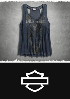 Reveal your sun-kissed shoulders. | Harley-Davidson Women's French Terry Tank