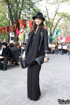 In Tokyo everyone on the street is a fashionista. And this girl's look is from H&M. Who woulda thunk. She looks like she stepped out of the pages of Vogue.
