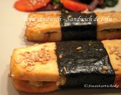 tofu sandwich Tofu Sandwich, Sandwiches, Ethnic Recipes, Desserts, Food, Tailgate Desserts, Deserts, Meals, Dessert