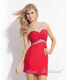 118.00$  Watch now - http://vivku.justgood.pw/vig/item.php?t=nucre238444 - Sexy Rhinestone Beaded Prom Dress Evening Dress, Short Pencil Dress, Homecoming 118.00$