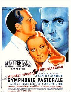 """La symphonie pastorale - Jean Delannoy 1946 - VH04165 - Palme d'or Festival de Cannes -- """"Un pasteur découvre une fillette aveugle et abandonnée. Une intimité tendre les unit."""""""