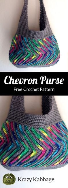 Crochet How to Crochet the Fast-forward Chevron Purse – Krazy Kabbage . Love, to Crochet the Fast-forward Chevron Purse – Krazy Kabbage . How to Crochet the Fast-forward Chevron Purse – Krazy Kabbage Purse Patterns Free, Crochet Purse Patterns, Bag Crochet, Bag Pattern Free, Crochet Handbags, Crochet Purses, Crochet Clutch, Chevron Crochet, Crocheted Bags