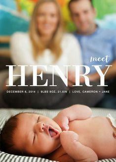 Now introducing baby! Debut your baby with a birth announcement from Minted.