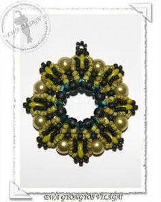 Ewa gyöngyös világa!: Larina medál+minta / Larina pendant pattern