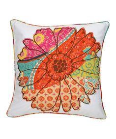 Loving this Flower Zanzibar Pillow on #zulily! #zulilyfinds
