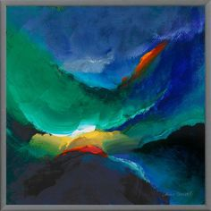 #Blue and teal #art