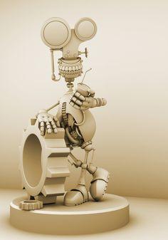 Robot copy by ~hongrenjoe Maya 3D