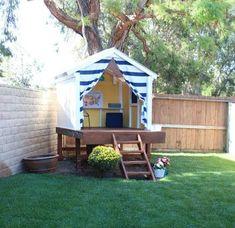 30 DIY Backyard Playground Landscaping Ideas - Page 11 of 30 Kids Backyard Playground, Backyard For Kids, Playground Ideas, Backyard Playhouse, Build A Playhouse, Backyard Fort, Cozy Backyard, Small Backyard Gardens, Small Backyard Landscaping