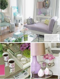 Lilac & mint-- works great together