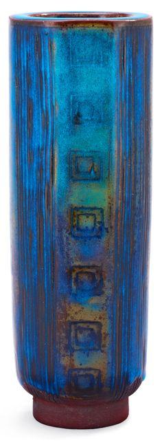 Wilhelm Kåge; Glazed Stoneware 'Farsta' Vase for Gustavsberg, 1948.