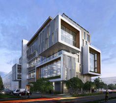 Office Building Exterior - 3d model - CGStudio