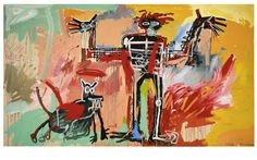 "Jean-Michel Basquiat ""Boy and Dog in a Johnnypump"" - 1982"