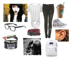 """Emo"" by mollypopiscool ❤ liked on Polyvore featuring мода, Converse, Dolce&Gabbana и JanSport"