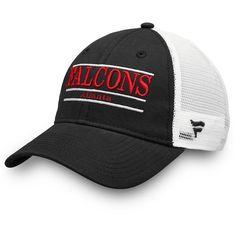 60afce35e Men s Atlanta Falcons NFL Pro Line by Fanatics Branded Black White Primary  Bar Trucker Adjustable Hat