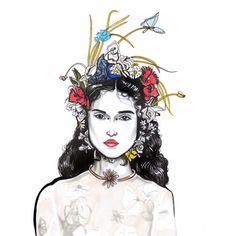 #fashion #illustration #dior #flowers
