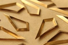 Raw Brass Dropped Rhombus Cutout Stampings: by - made in USA Copper Wall, Wood Art, Diy And Crafts, Stamp, Brass, Restoration, I Shop, Drop, Metal Jewelry