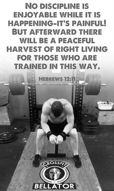 Hebrews 12:11  ...For those who are trained in this way. Beautiful