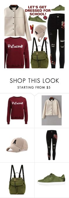 """""""School"""" by beebeely-look ❤ liked on Polyvore featuring River Island, Marc Jacobs, Topshop, BackToSchool, casual, school, schoolstyle and twinkledeals"""