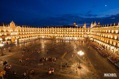 Plaza Mayor de Salamanca al atardecer