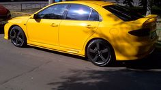 Yellow Mazda 6 MPS
