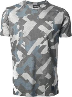EMPORIO ARMANI t-shirt imprimé camouflage