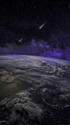 Earth From Space Meteor Falling - IPhone Wallpapers