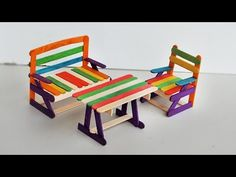 How to make Deck Chairs | Popsicle stick Crafts - YouTube