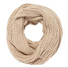 Taupe ribbed stitch snood - Knitted scarves - Scarves - Women -