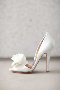 Badgley Mishka Wedding Shoes - White - Blush Pink | Our Wedding