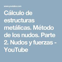 Cálculo de estructuras metálicas. Método de los nudos. Parte 2. Nudos y fuerzas - YouTube