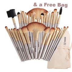 Professional Soft Champagne 32pcs Makeup Brushes Set + Bag for FREE  #Makeupbrushes #beautyblogger #Makeup #Makeupgoals #Makeupdolls #Makeuptutorial #Makeupartist #Makeupporn #Makeuplook #Makeupgeek #Makeupart #Makeuptalk #Makeuptips #Makeuphaul #Makeupblog #Makeupbyme #Makeuplove #Makeuplover #Makeupmafia #Makeupjunkie #Makeuplovers