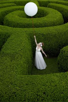 Anthropologie Wedding by Koto Bolofo - I always wanted to get married in a maze! Landscape Design, Garden Design, Amazing Maze, Labyrinth Maze, Anthropologie Wedding, Hedges, Belle Photo, Beautiful Gardens, Mythology