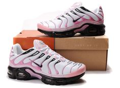 check out ebe47 2c87d Womens Nike Air Max TN Retro Leather Running Shoes White Pink .